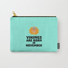 Vikings are born in November T-Shirt Dur82 Carry-All Pouch