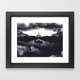 The Landing A Zebes Surrealism Framed Art Print