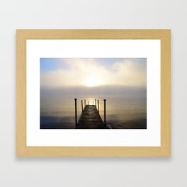 Into the Light: Sunrise, First Full Day of Fall Framed Art Print