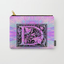 pink initial letter d Carry-All Pouch