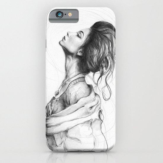 Pretty Lady Illustration Woman Portrait Beauty iPhone & iPod Case