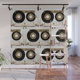 Transparant mix tape Retro Cassette Wall Mural