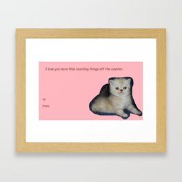 Kitty Comic Sans Valentine Framed Art Print