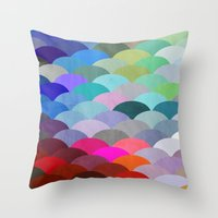 rug Throw Pillows featuring Scales by Steven Womack