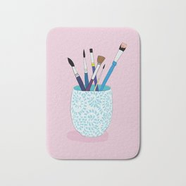 Paintbrushes in a Tea Cup Bath Mat