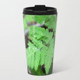 Northern Oak Fern and Raindrops Travel Mug