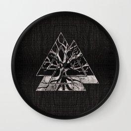 Valknut Symbol and Tree of life  -Yggdrasil Wall Clock
