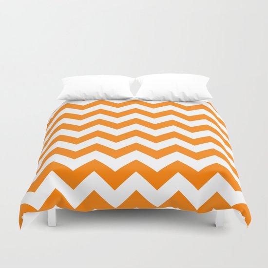 Chevron (Orange/White) Duvet Cover