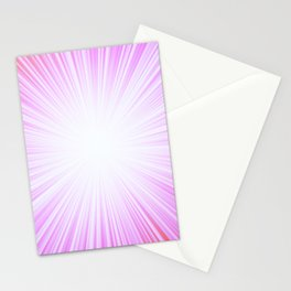 Pink Rays Stationery Cards