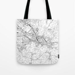 Florence White Map Tote Bag