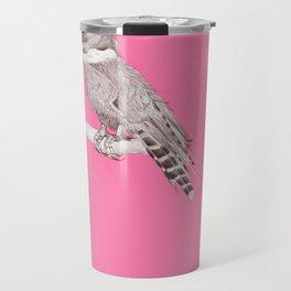 pink kingfisher bird Travel Mug