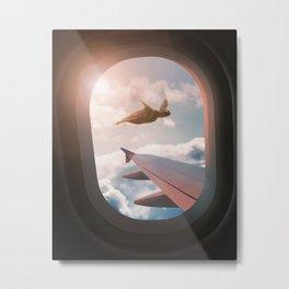 FLYING SEA TURTLE Metal Print