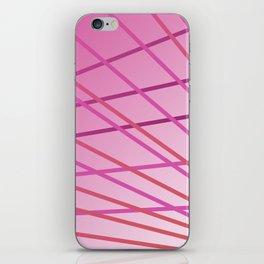 Pink cute lines iPhone Skin