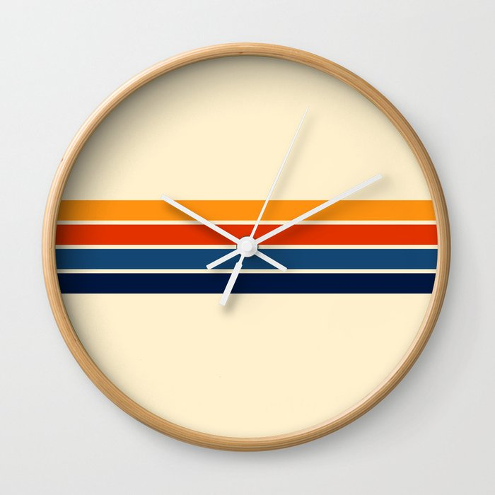 Classic Retro Stripes Wall Clock