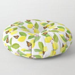 Meyer Lemons and Monarch Butterflies Floor Pillow
