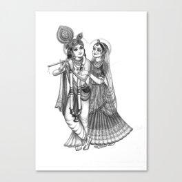 Radha And Krishna Canvas Print
