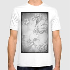 Flower bouquet...BW MEDIUM White Mens Fitted Tee