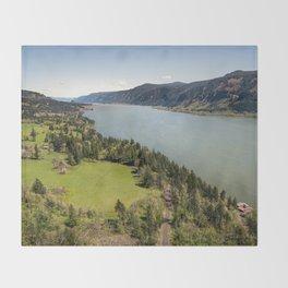 Columbia River Gorge Washington Throw Blanket