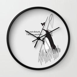 Penguin on Vacation Wall Clock