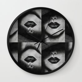 Lips for Days Wall Clock