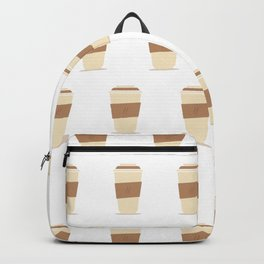 coffee cup pattern Backpack