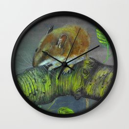 Field mouse illustration Wall Clock