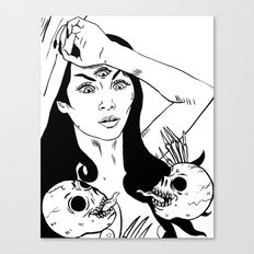 Skull Goddess Canvas Print