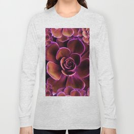 PURPLE TINGED JADE CACTI SUCCULENTS Long Sleeve T-shirt