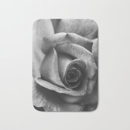 Rose Black and White Photography Bath Mat