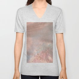 Mother of pearl in rose gold Unisex V-Neck