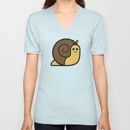 Cutesy Crawlies — Snail Unisex V-Neck