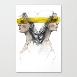 Twins sisters soulmates Canvas Print