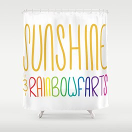 Sunshine & Rainbowfarts Shower Curtain