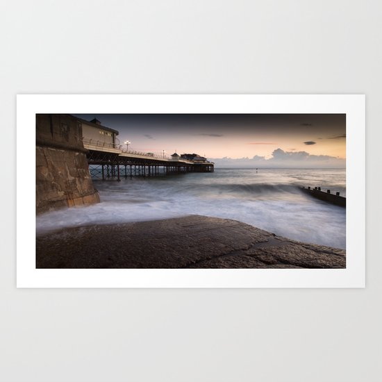 Cromer at High Tide Art Print