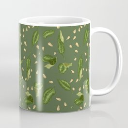 Leaves and seeds in green colors Coffee Mug