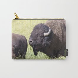 Watercolor Bison Herd 08, Yellowstone, WY Carry-All Pouch