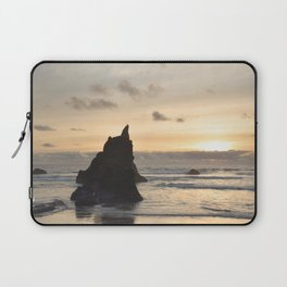 Arcadia Beach Sunset Lion Rock Oregon Coast Pacific Ocean Laptop Sleeve
