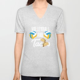 Volleyball And Tacos Fast Food Sports Gift Unisex V-Neck