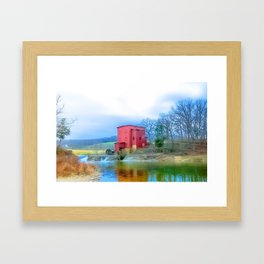 Dillard Mill  in Historical Missouri Park Framed Art Print