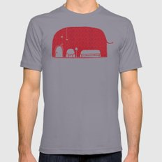 Elephanticus Roomious Slate LARGE Mens Fitted Tee