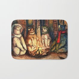 Camp Meeting By Helen Green Bath Mat