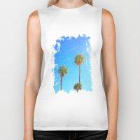 palms Biker Tanks featuring Palms by Tonya Doughty