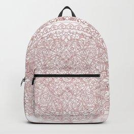 Rose Gold Marble Mandala Backpack