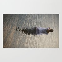 depression Area & Throw Rugs featuring Dreaming in the water by Maria Heyens