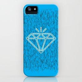 diamond cyan iPhone Case
