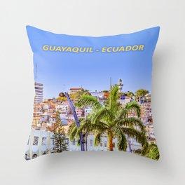 Santa Ana Hill, Guayaquil Poster Print Throw Pillow