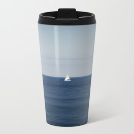Sailboat in Spain. Metal Travel Mug