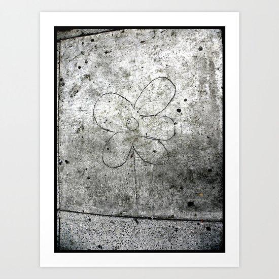 Sidewalk Flower Art Print