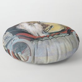 Ramon Casas And Pere Romeu In An Automobile - Digital Remastered Edition Floor Pillow