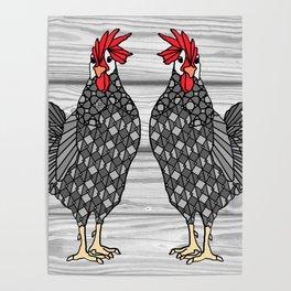 Gray Chicken Poster